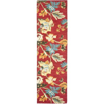 Bradwood Floral Red / Multi Contemporary Rug Rug Size: Runner 23 x 8