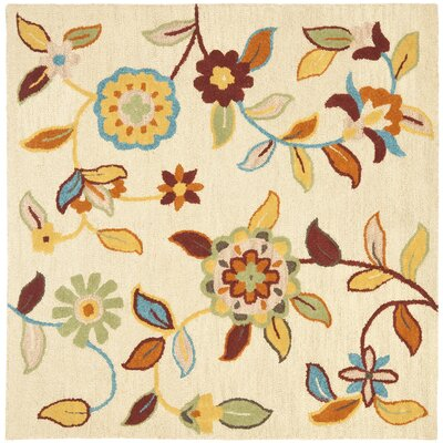 Bradwood Beige Area Rug Rug Size: Square 6