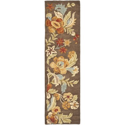Bradwood Brown Floral Area Rug Rug Size: Runner 23 x 8