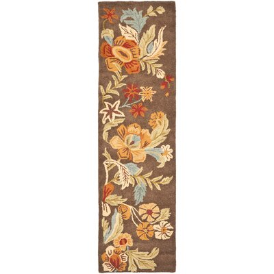 Bradwood Brown Floral Area Rug Rug Size: Rectangle 2 x 3