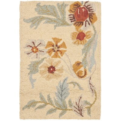 Bradwood Beige Flower Area Rug Rug Size: Rectangle 2 x 3