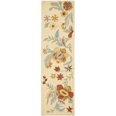 Bradwood Beige Flower Area Rug Rug Size: Runner 23 x 8