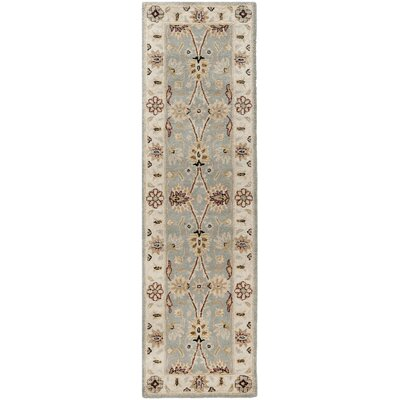 Dunbar Hand-Woven Wool Light Blue/Ivory Area Rug Rug Size: Runner 23 x 10