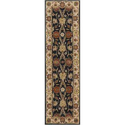 Dunbar Hand-Woven Wool Black Area Rug Rug Size: Runner 23 x 10