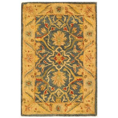 Dunbar Hand-Woven Wool Beige/Green Area Rug Rug Size: Rectangle 2 x 3