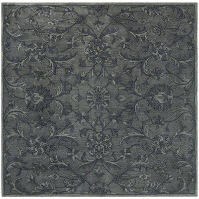 Dunbar Hand-Woven Wool Grey Area Rug Rug Size: Square 6