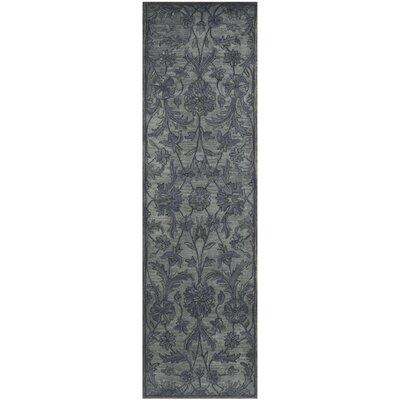 Dunbar Hand-Woven Wool Grey Area Rug Rug Size: Runner 23 x 8