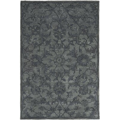 Dunbar Hand-Woven Wool Grey Area Rug Rug Size: Rectangle 4 x 6