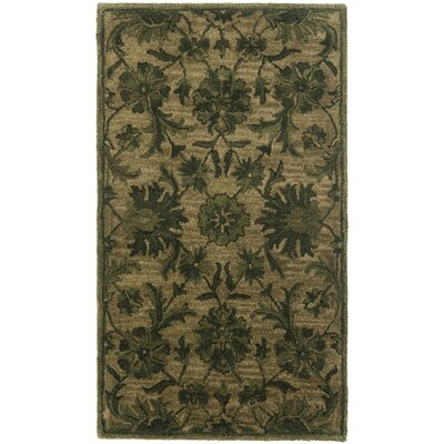 Dunbar Hand-Woven Wool Olive/Green Area Rug Rug Size: Rectangle 5 x 8