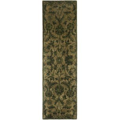 Dunbar Hand-Woven Wool Olive/Green Area Rug Rug Size: Runner 23 x 8