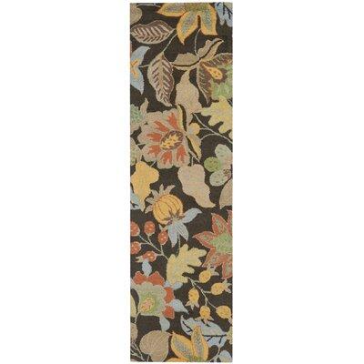 Bradwood Black Floral Area Rug Rug Size: Runner 23 x 8