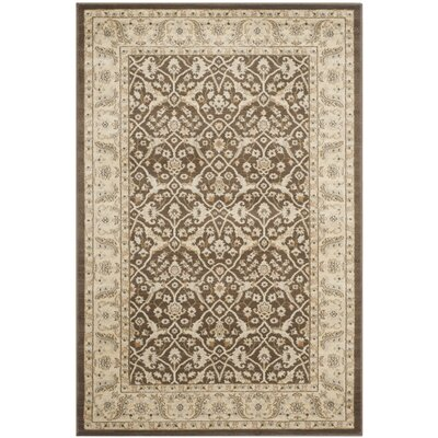 Lavelle Brown / Ivory Area Rug Rug Size: Rectangle 4 x 6