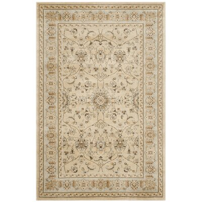 Lavelle Ivory Area Rug Rug Size: 53 x 76