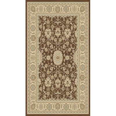 Lavelle Brown / Ivory Area Rug Rug Size: 4 x 6
