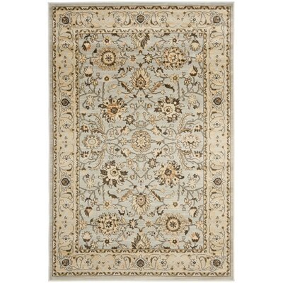 Lavelle Grey / Ivory Area Rug Rug Size: 5'3 x 7'6