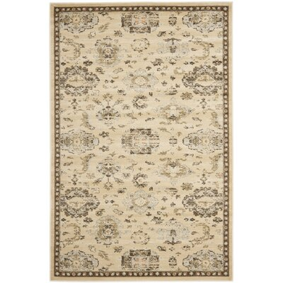 Lavelle Ivory / Brown Area Rug Rug Size: 4 x 6