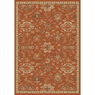Lavelle Rust / Ivory Area Rug Rug Size: Rectangle 53 x 76