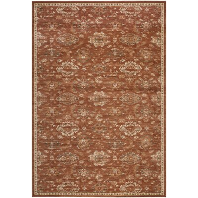 Lavelle Rust / Ivory Area Rug Rug Size: Rectangle 9 x 12
