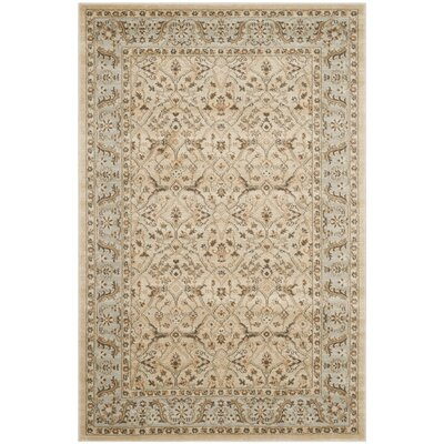 Lavelle Ivory/Gray Area Rug Rug Size: Rectangle 53 x 76