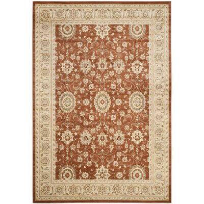Lavelle Rust / Ivory Area Rug Rug Size: 9 x 12