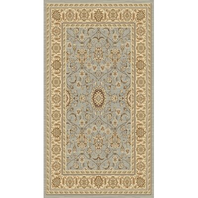 Lavelle Grey/Ivory Area Rug Rug Size: 53 x 76