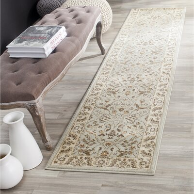 Lavelle Grey/Ivory Area Rug Rug Size: Runner 2 x 8