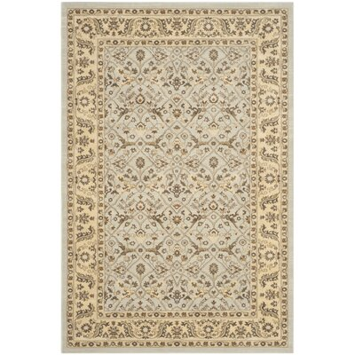 Lavelle Gray/Ivory Area Rug Rug Size: Rectangle 8 x 11