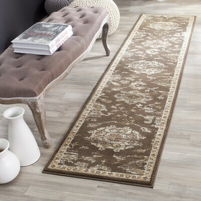 Lavelle Brown/Ivory Area Rug Rug Size: Runner 2 x 8