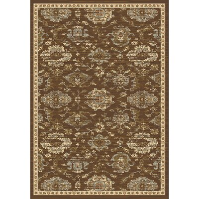 Lavelle Brown/Ivory Area Rug Rug Size: Rectangle 3 x 5