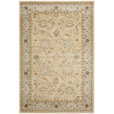 Lavelle Ivory/Grey Area Rug Rug Size: 53 x 76