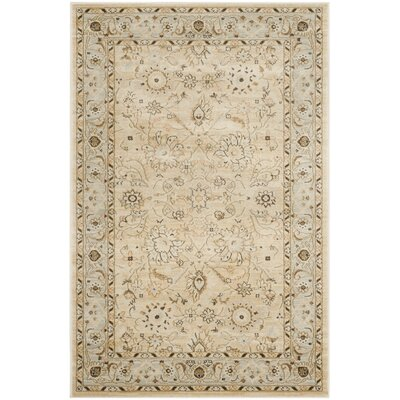 Lavelle Ivory/Grey Area Rug Rug Size: 4 x 6