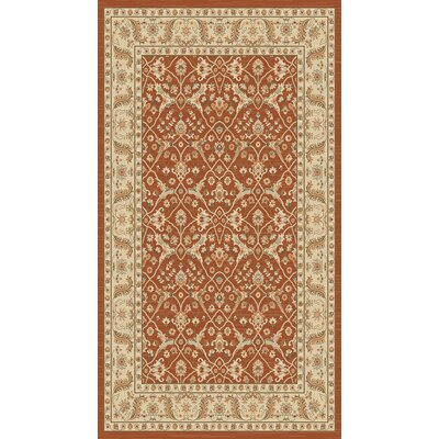 Lavelle Rust/Ivory Area Rug Rug Size: 53 x 76
