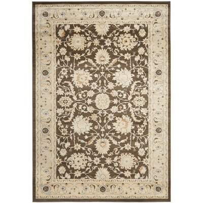 Lavelle Brown/Ivory Area Rug Rug Size: 53 x 76