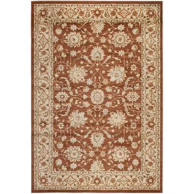 Lavelle Rust/Ivory Area Rug Rug Size: 4 x 6