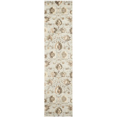 Lavelle Gray / Ivory Area Rug Rug Size: Runner 2 x 8