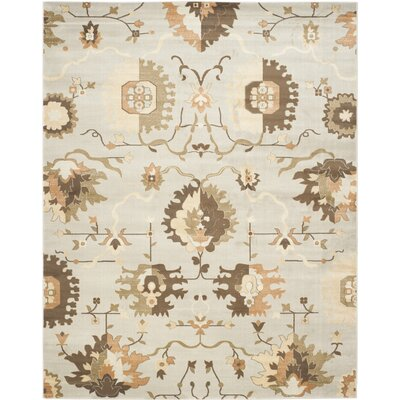 Lavelle Gray / Ivory Area Rug Rug Size: Rectangle 9 x 12