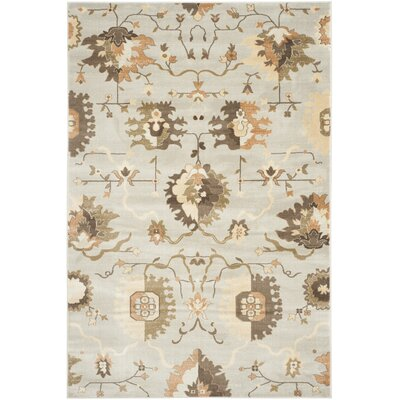 Lavelle Gray / Ivory Area Rug Rug Size: 51 x 77