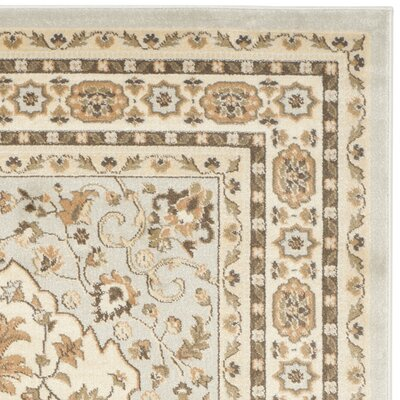 Lavelle Gray / Ivory Area Rug Rug Size: Square 5