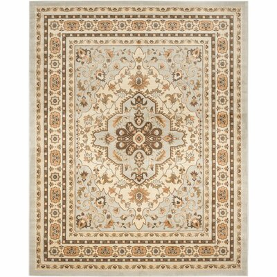 Lavelle Gray / Ivory Area Rug Rug Size: 6 x 9