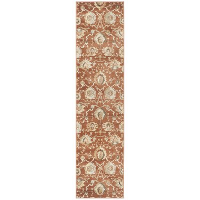Lavelle Rust / Ivory Area Rug Rug Size: Runner 2 x 8