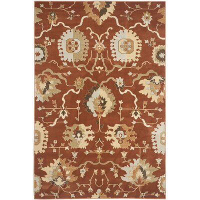 Lavelle Rust / Ivory Area Rug Rug Size: 51 x 77