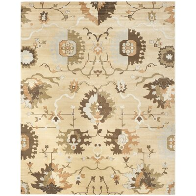 Lavelle Ivory / Brown Area Rug Rug Size: 3 x 5