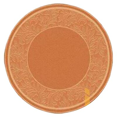 Octavius Terracotta/Natural Outdoor Rug Rug Size: Round 53