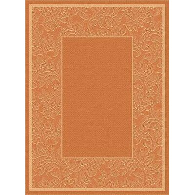 Octavius Terracotta/Natural Outdoor Rug Rug Size: 53 x 77