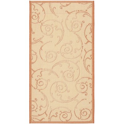 Alderman Natural / Terra Outdoor Area Rug Rug Size: Runner 27 x 5