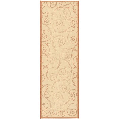 Octavius Natural / Terra Outdoor Area Rug Rug Size: Runner 24 x 67