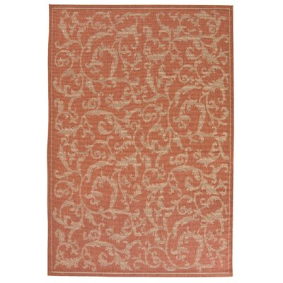 Octavius All Over Ivy Terracota Indoor/Outdoor Area Rug Rug Size: 53 x 77