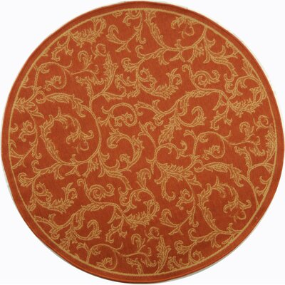 Alderman All Over Ivy Terracota Indoor/Outdoor Area Rug Rug Size: Round 5'3