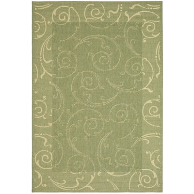 Octavius Indoor/Outdoor Maribelle Olive Area Rug Rug Size: 67 x 96