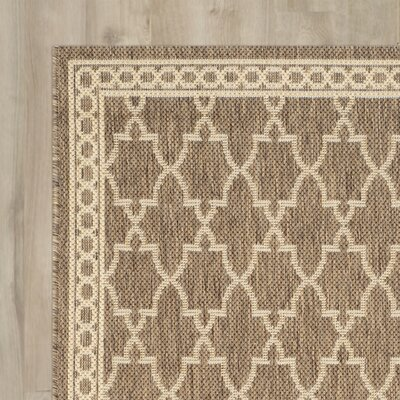 Alderman Dark Beige/Beige Indoor/Outdoor Area Rug